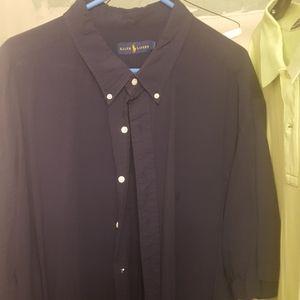 Blue Polo Button Up